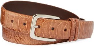 W.KLEINBERG W. Kleinberg Men's Ostrich Leather Belt