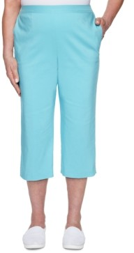 Alfred Dunner Sea You There Embellished Pull-On Capri Pants