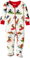 Hatley Sledding Dogs Footed Coverall (Infant)