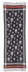 Alexander McQueen Skull Wool Jacquard Stole