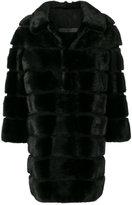 Simonetta Ravizza fur panelled coat