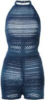Balmain knitted halterneck playsuit - women - Cotton/Viscose - 38