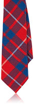 Alexander Olch MEN'S PLAID WOOL MELTON NECKTIE