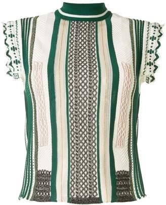 Mame Kurogouchi striped knitted T-shirt