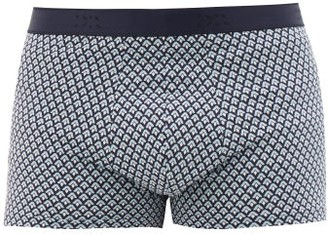Derek Rose Star 15 Geometric-print Boxer Briefs - Mens - Blue Multi