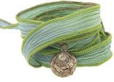 Catherine Michiels Sundar Bronze Charm & Silk Bracelet Wrap