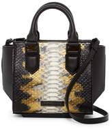 KENDALL + KYLIE Kendall & Kylie Brook Mini Snake Embossed Leather Satchel