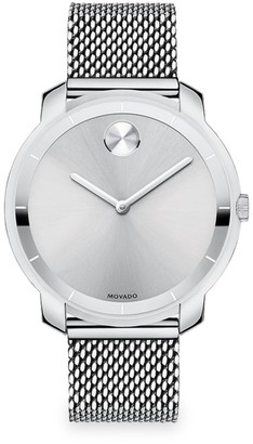 Movado BOLD Stainless Steel Mesh Bracelet Watch
