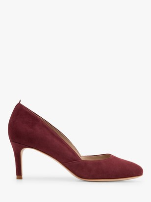 Boden Edie Suede Mid Heel Court Shoes