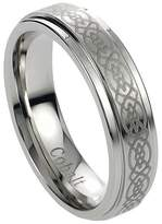 Journee Collection Daxx Men's Cobalt Engraved Celtic Design Band