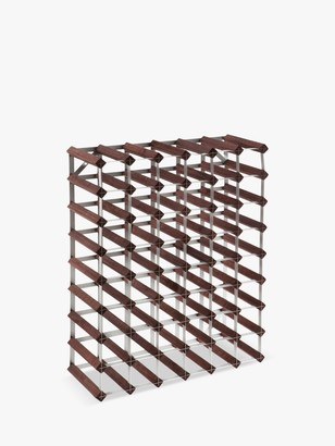 RtA Wood Wine Rack, 56 Bottle, Dark Pine