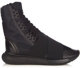 Y-3 Qasa Boot Neoprene And Canvas High-top Trainers
