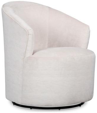 """Stone & Leigh Ivy Swivel 20.5"""" Barrel Chair, Stone Velvet"""
