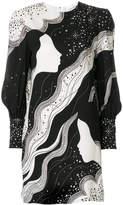 Chloé silhouette print shift dress