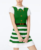Planet Gold Juniors' Elf Holiday Sweater Dress