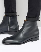 Paul Smith Mulder Pebble Grain Zip Boots