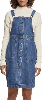 Urban Classics Women's Ladies Denim Dungarees Dress Skirt