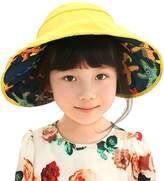 Fairy wings Junior Girls Babies Foldable Stelleroid Printed Sun Protection Visor Cap