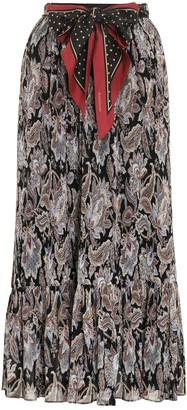 Zimmermann Ladybeetle Pleated Midi Skirt