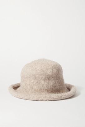 LAUREN MANOOGIAN Pima Cotton, Alpaca And Wool-blend Felt Hat - Beige