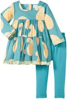 Masala Gypsy Paisley 2 Piece Set (Baby) - Teal-18-24 Months