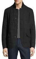 Armani Collezioni Quilted Wool Short Jacket, Charcoal