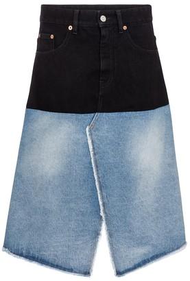 MM6 MAISON MARGIELA High-rise denim midi skirt