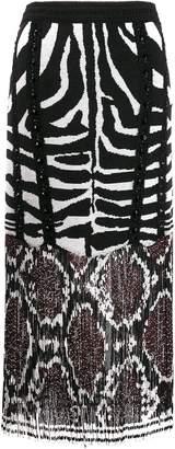 Amen fringed embellished skirt