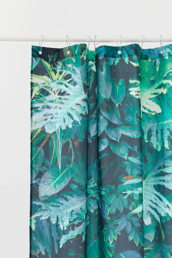 H&M Patterned Shower Curtain