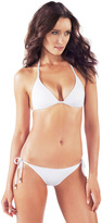 Voda Swim White Envy Push Up String Bikini Top