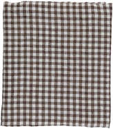 LINGE PARTICULIER Gingham Washed Linen Duvet Cover