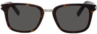 Saint Laurent Tortoiseshell Square SL 341 Sunglasses