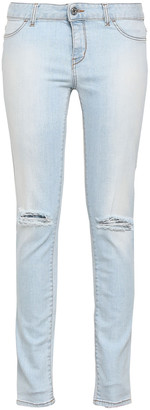 Just Cavalli Distressed Low-rise Skinny Jeans