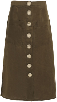 Nicholas Linen Midi Skirt