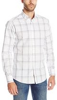 Vince Camuto Men's Tri Color Exploded Plaid Button Down Shirt