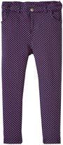 Jo-Jo JoJo Maman Bebe Jersey Jeans (Toddler/Kid) - Navy/Fuchsia Dot-4-5 Years