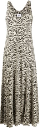 Nanushka Zebra-Pattern Slip Dress