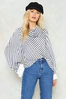 Nasty Gal nastygal So Cowl Hearted Striped Shirt