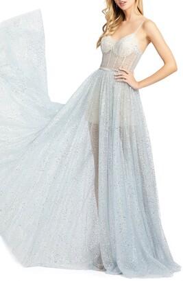 Mac Duggal Sparkle Bustier Gown
