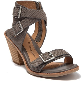 Sofft Marlyn Snake Embossed Leather Sandal