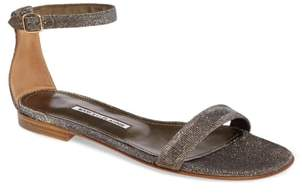 Manolo Blahnik Chafla Ankle Strap Sandal