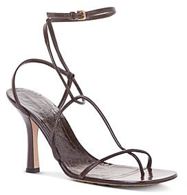 Bottega Veneta Women's Square Toe Strappy High Heel Sandals