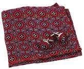 Red Black Paisley Pocket Square Formal Wear Woven Microfiber Perfection Hanky Mens Cufflinks Set By Epoint