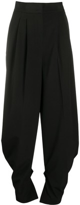 MSGM High-Waisted Pleated Trousers