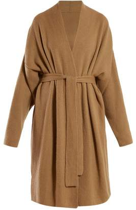 Gabriela Hearst Andres Cashmere And Silk Blend Wrap Cardigan - Womens - Camel
