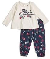 Tea Collection Graphic Long Sleeve Tee & Pants Set (Baby Girls)