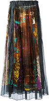 Valentino print pleated skirt - women - Cotton - 42
