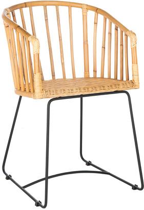 Safavieh Siena Rattan Barrel Dining Chair