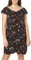 Evans Plus Size Women's Frill V-Neck Shift Dress