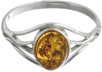 Nature d 'Ambre 3111158Women's Ring Silver 925/1000Amber